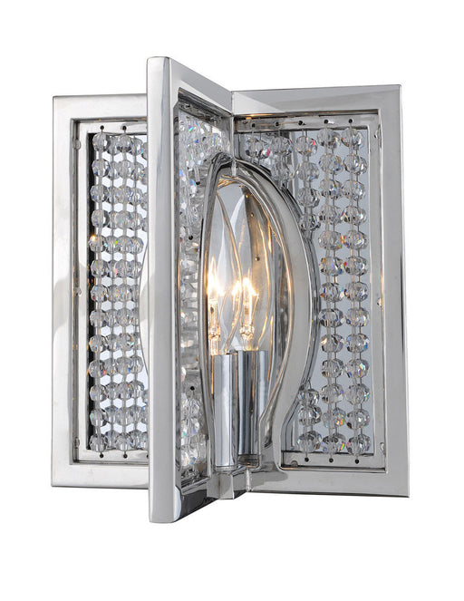 Kalco Lighting 10130-010-FR001 Rockefeller Collection One Light Wall Sconce in Polished Chrome Finish
