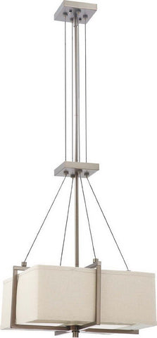 Nuvo Lighting 60-4486 Logan Collection Two Light Hanging Pendant Chandelier in Hazel Bronze Finish - Quality Discount Lighting