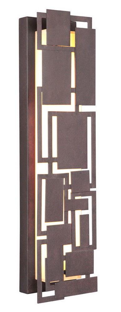 Craftmade Lighting 13722AG-LED Oak Park Collection 22 Inch LED Wall Sconce in Aged Bronze Finish