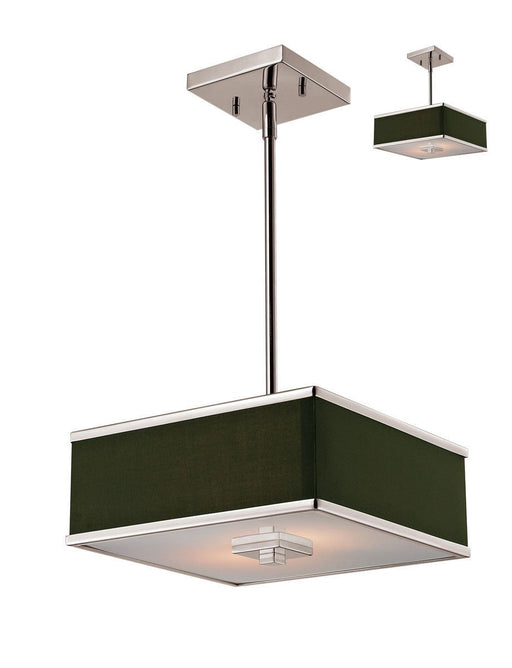 Z-Lite Lighting 197-12 Rego Collection Two Light Hanging Pendant or Semi Flush Ceiling Mount in Brushed Nickel Finish