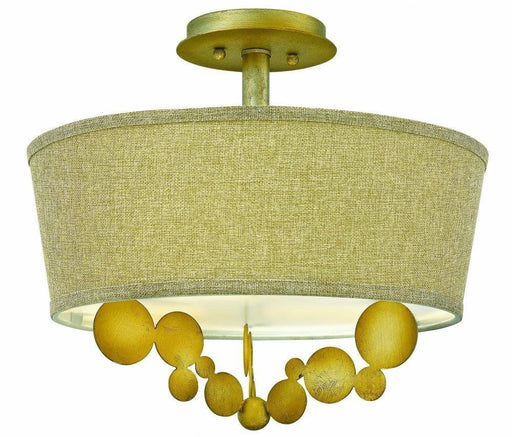 Hinkley Lighting Fredrick Ramond FR31241 SPG Barolo Collection Three Light Semi Flush Ceiling Mount in Spanish Gold Finish - Quality Discount Lighting