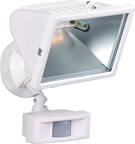 Nuvo Lighting 76-508 One Light Exterior Outdoor Motion Halogen Flood in White Finish - Quality Discount Lighting