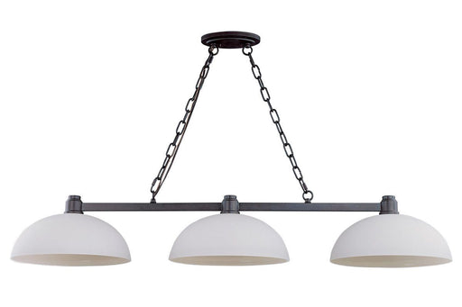 Z-Lite Lighting 314-3-BRZ Chelsey Collection Three Light Hanging Island Billiard Chandelier in Bronze Finish