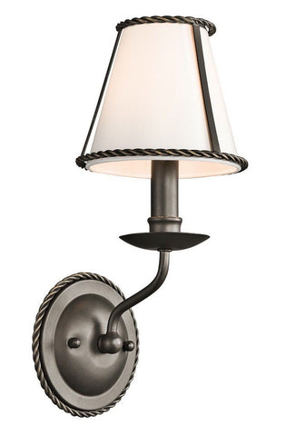 Kichler Lighting 43343 OZ Donington Collection One Light Wall Sconce in Olde Bronze Finish