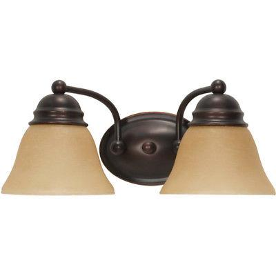 Nuvo Lighting 60-3126 Empire Collection Two Light Energy Star Efficient GU24 Bath Wall Vanity Light in Mahogany Bronze Finish