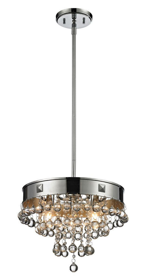 Z-Lite Lighting 612-14CH Iluva Collection Three Light Hanging Pendant Chandelier in Polished Chrome with Gold Finish