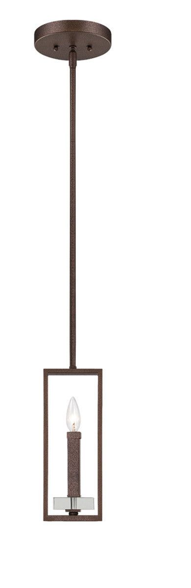 Designers Fountain Lighting 84330-FBZ Fieldhouse Collection One Light Hanging Mini Pendant in Flemish Bronze Finish