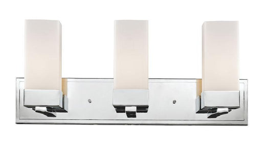 Z-Lite Lighting 190-3V Sapphire Contemporary Collection Three Light Bath Vanity Wall Fixture in Polished Chrome Finish