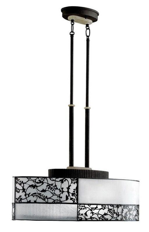 Aztec 34980 by Kichler Lighting Flourish Collection Two Light Hanging Island Chandelier in Distressed Black Finish