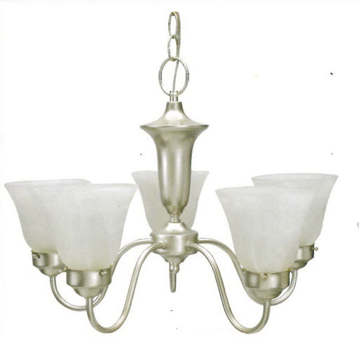 Leadco Lighting 1266 SLM Five Light Chandelier in Silver Mist Finish - Quality Discount Lighting