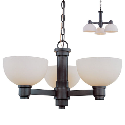 Z-Lite Lighting 314-3C-BRZ Chelsey Collection Three Light Hanging Chandelier in Bronze Finish