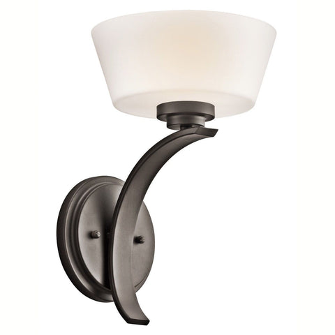 Aztec 37951 by Kichler Lighting Rise Collection One Light Wall Sconce in Olde Bronze Finish
