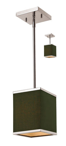 Z-Lite Lighting 197-6 Rego Collection One Light Hanging Mini Pendant or Semi Flush Ceiling Mount in Brushed Nickel Finish