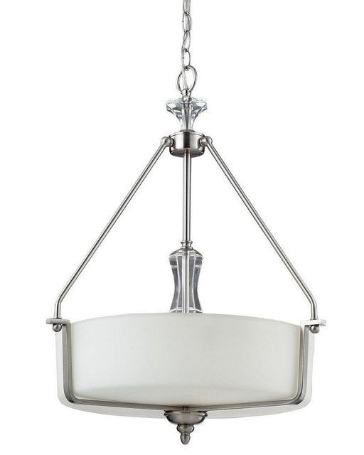 Z-Lite Lighting 2000-P Avignon Collection Three Light Hanging Pendant Chandelier in Brushed Nickel Finish