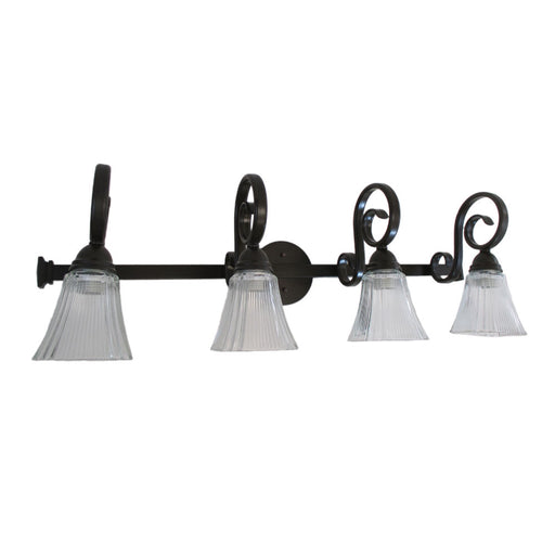 Epiphany Lighting 106154 ORB 105260 Four Light Bath Wall Light In Oil  Rubbed Bronze Finish