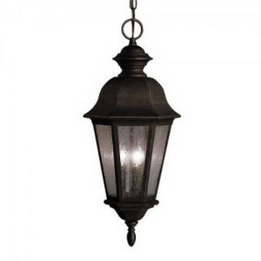 Aztec 39910 By Kichler Lighting Cadiz Collection Three Light Outdoor Hanging Lantern in Distressed Black Finish - Quality Discount Lighting