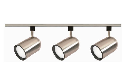 Nuvo Lighting TK342 Three Light Bullet Cylinder R30 Line Voltage Track Kit in Brushed Nickel Finish - Quality Discount Lighting