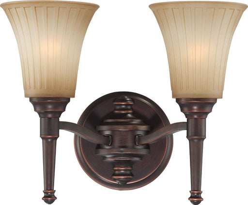 Nuvo Lighting 60-4242 Franklin Collection Two Light Bath Vanity Wall Sconce in Georgetown Bronze Finish - Quality Discount Lighting