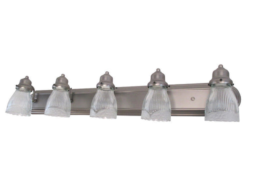 Craftmade Lighting 11736PT-G112 Five Light Bath Vanity Wall Mount in Pewter Finish