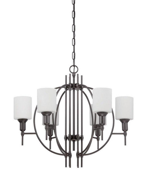 Craftmade Lighting 37224 ESP Meridian Collection Four Light Pendant Chandelier in Espresso Finish