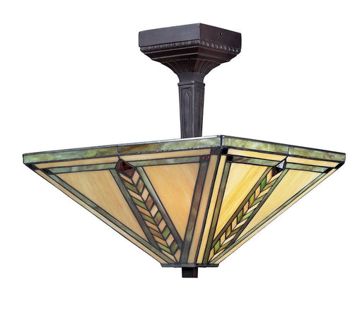 Z-Lite Lighting Z14-45SF Shalimar Collection Two Light Semi Flush Ceiling Mount in Chestnut Bronze Finish
