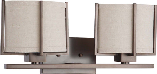 Nuvo Lighting 60-4042 Portia Collection Two Light Energy Efficiencient Fluorescent GU24 Bath Vanity Wall Mount in Hazel Bronze Finish - Quality Discount Lighting