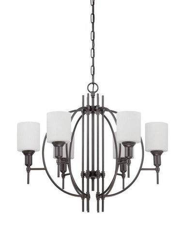 Craftmade Lighting 37226 ESP Meridian Collection Six Light Pendant Chandelier in Espresso Finish