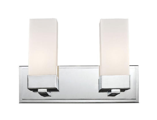 Z-Lite Lighting 190-2V Sapphire Contemporary Collection Two Light Bath Vanity Wall Fixture in Polished Chrome Finish