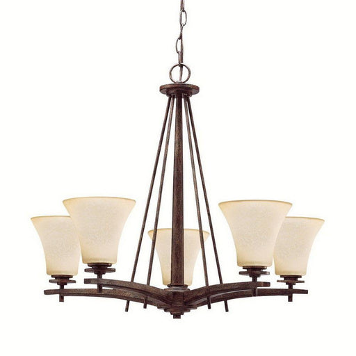 Aztec 34908 by Kichler Lighting Ashton Collection Five Light Hanging Chandelier in Canyon Slate Finish