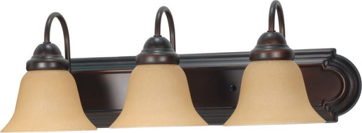 Nuvo Lighting 60-3122 Ballerina Collection Three Light Energy Star Efficient GU24 Bath Vanity Wall Mount in Mahogany Bronze Finish