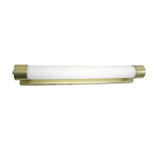 Oxygen Lighting 2-583-130 One Light Horizon Collection Energy Efficient Fluorescent Wall Vanity Sconce in Satin Brass Finish - Discount Lighting Fixtures
