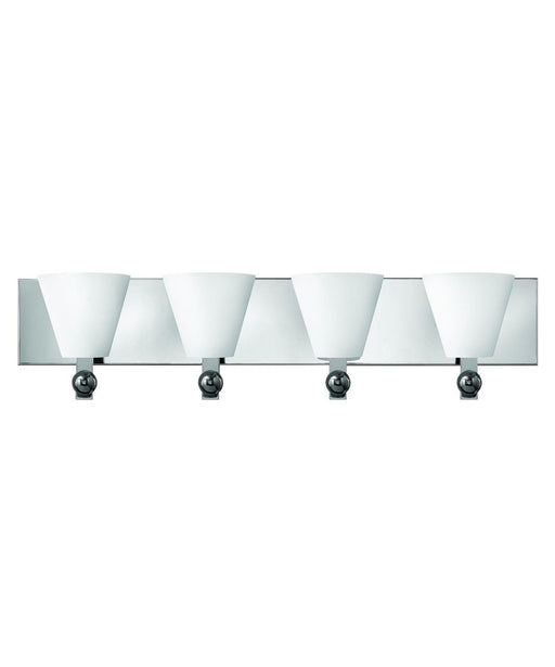 Hinkley Lighting Fredrick Ramond FR52124 PCM Milan Collection Four Light Wall Bath Wall Mount in Polished Chrome Finish