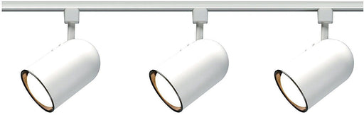 Nuvo Lighting TK322 Three Light Bullet Cylinder R30 Line Voltage Track Kit in White Finish - Quality Discount Lighting