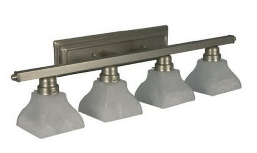 Home Enhancements Lighting VS-144A-NK Four Light Bath Vanity Wall Mount in Satin Nickel Finish - Quality Discount Lighting