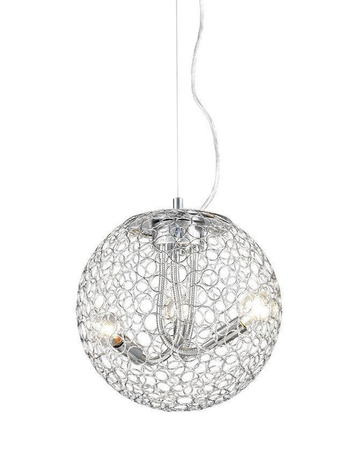 Z-Lite Lighting 175-12 Saatchi Collection Three Light Hanging Pendant in Chrome Finish