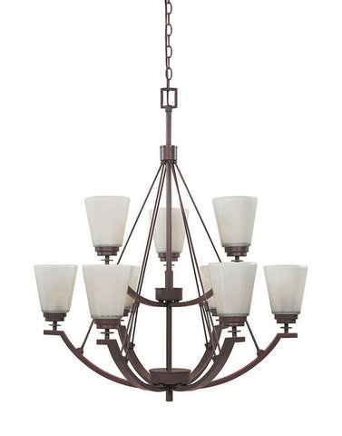 Designers Fountain Lighting 81689 TU Harlow Collection Nine Light Hanging Chandelier in Tuscana Bronze Finish - Quality Discount Lighting