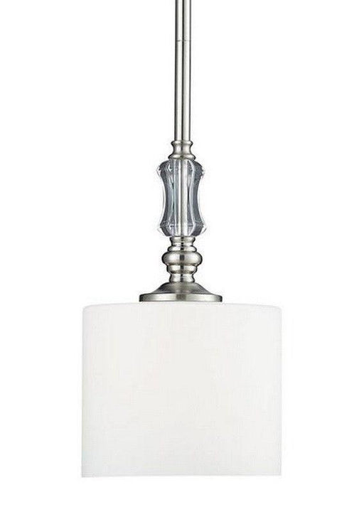 Z-Lite Lighting 2000-MP Avignon Collection One Light Hanging Mini Pendant Chandelier in Brushed Nickel Finish