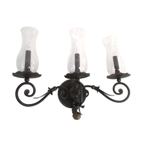 Kalco Lighting 2743 AC Bilston Collection Three Light Bath Wall Sconce in Antique Copper Finish - Quality Discount Lighting