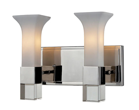 Z-Lite Lighting 611-2V-CH Lotus Collection Two Light Bath Vanity Wall Mount in Polished Chrome Finish