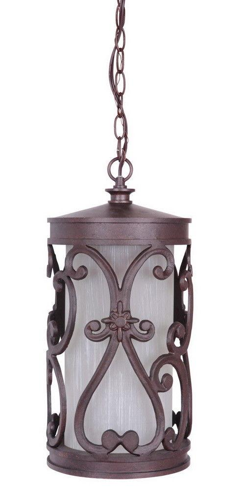 Craftmade Lighting Z5321-98 Glendale Collection One Light Exterior Outdoor Hanging Pendant Lantern in Aged Bronze Finish
