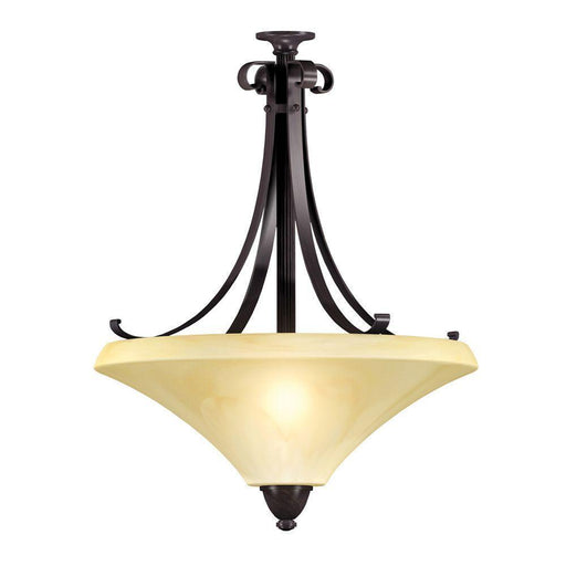 Rainbow Lighting SWP1313SCT Three Light Energy Efficient GU24 Pendant Chandelier in Oil Rubbed Bronze Finish