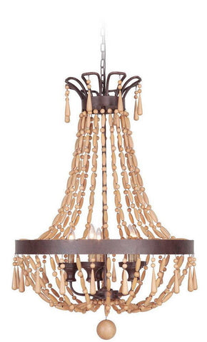 Craftmade Lighting 36839 AG Berkshire Collection Nine Light Pendant Chandelier in Aged Bronze Finish