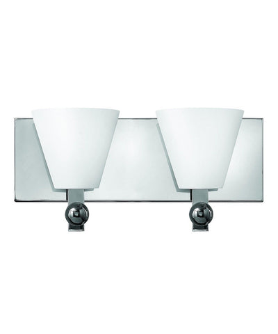 Hinkley Lighting Fredrick Ramond FR52122 PCM Milan Collection Two Light Wall Bath Wall Mount in Polished Chrome Finish