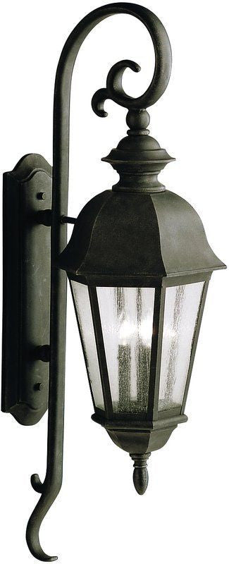 Aztec 39908 By Kichler Lighting Cadiz Collection Three Light Outdoor Wall Lantern in Distressed Black Finish - Quality Discount Lighting