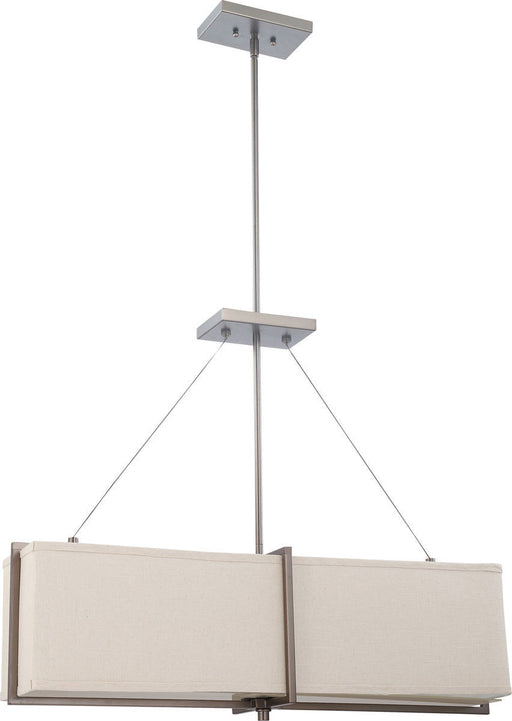 Nuvo Lighting 60-4485 Logan Collection Four Light Hanging Pendant Chandelier in Hazel Bronze Finish - Quality Discount Lighting