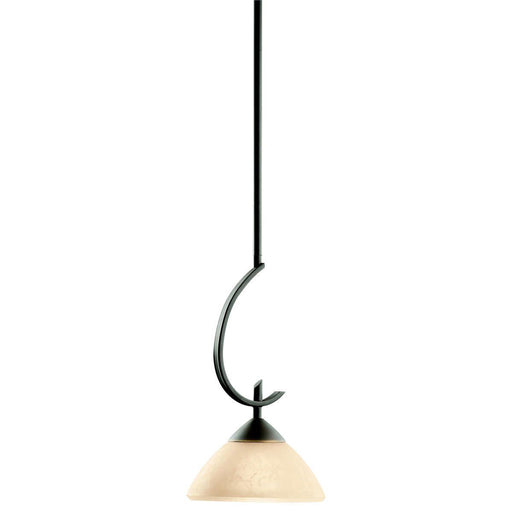 Kichler Lighting 3478 OZ Olympia Collection One Light Hanging Mini Pendant in Olde Bronze Finish