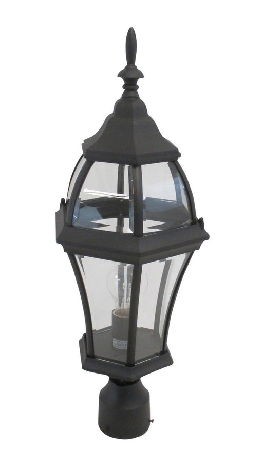 Rainbow ADJ APX-C46TC-BLK One Light Exterior Outdoor Post Lantern in Black Finish