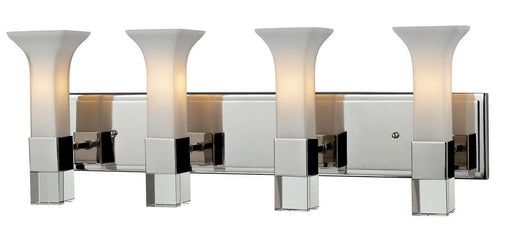 Z-Lite Lighting 611-4V-CH Lotus Collection Four Light Bath Vanity Wall Mount in Polished Chrome Finish