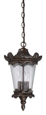Craftmade Lighting Z7421-112 Kingston Collection Three Light Exterior Outdoor Hanging Pendant Lantern in Peruvian Bronze Finish