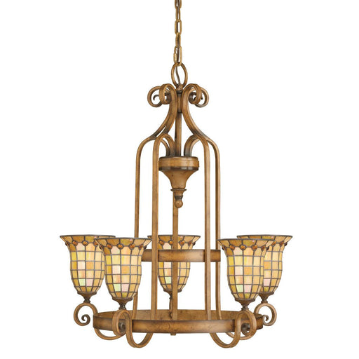 Aztec 34950 by Kichler Lighting Westerly Collection Five Light Hanging Chandelier in Mottled Pecan Finish